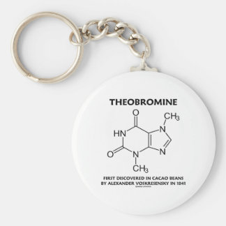 Theobromine First Discovered In Cacao Beans 1841 Basic Round Button Key Ring