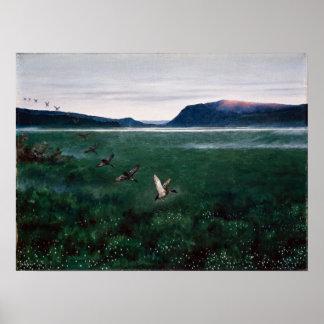 Theodor Kittelsen The Twelve Wild Ducks Poster