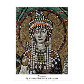 Theodora By Master Of San Vitale In Ravenna Postcard