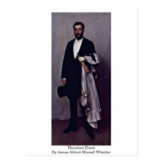 Theodore Duret By James Abbott Mcneill Whistler Postcard