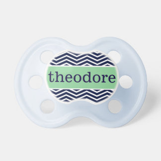 """Theodore"" Personalized Name - Chevron Print Dummy"