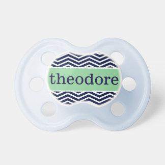 """Theodore"" Personalized Name - Chevron Print Dummy"