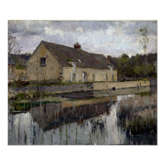 Theodore Robinson On The Canal Poster