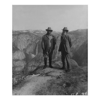 Theodore Roosevelt and John Muir on Glacier Point Poster