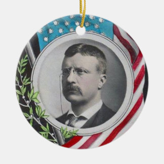 Theodore Roosevelt Ceramic Ornament