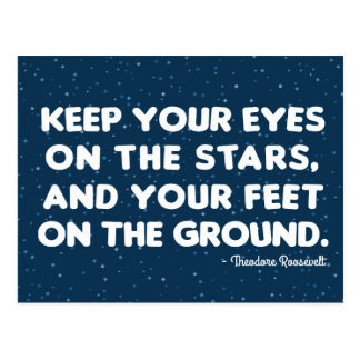 Theodore Roosevelt 'Eyes on the stars' Postcard
