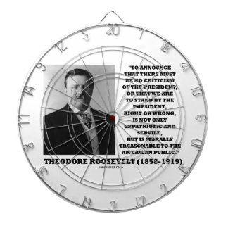 Theodore Roosevelt Morally Treasonable Quote Dartboards