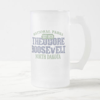 Theodore Roosevelt National Park Frosted Glass Beer Mug