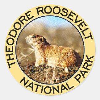 Theodore Roosevelt National Park Round Sticker
