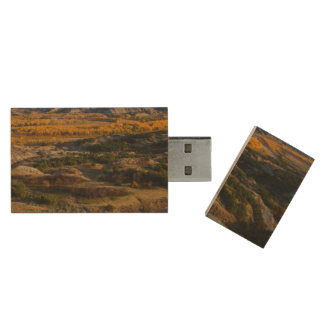 Theodore Roosevelt National Park Wood USB Flash Drive