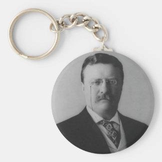 Theodore Roosevelt Portrait Key Ring
