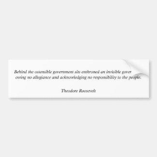 Theodore Roosevelt Quotes 7 Bumper Sticker