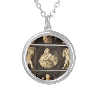 Theological Virtues by Raphael Round Pendant Necklace