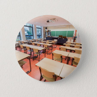 Theory classroom in high school 6 cm round badge