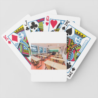 Theory classroom in high school bicycle playing cards