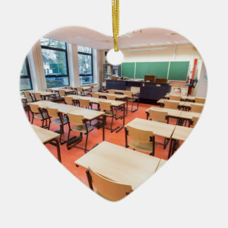Theory classroom in high school ceramic ornament