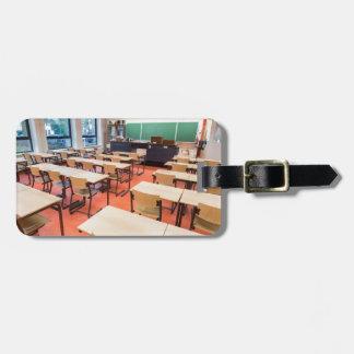 Theory classroom in high school luggage tag