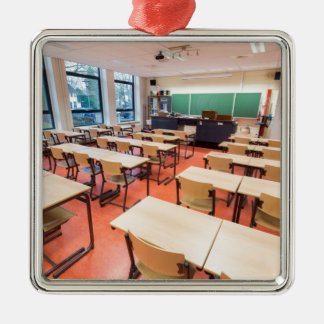 Theory classroom in high school metal ornament
