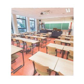 Theory classroom in high school notepad