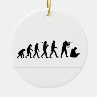 Theory evolution round ceramic decoration
