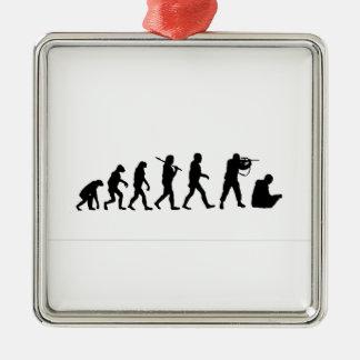 Theory evolution Silver-Colored square decoration