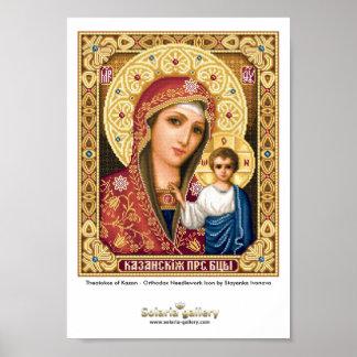 Theotokos of Kazan - Poster