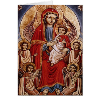 Theotokos with Christ Child Card