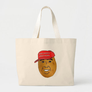thepotatoofficial logo large tote bag