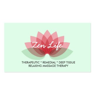 Therapeutic Massage Pack Of Standard Business Cards