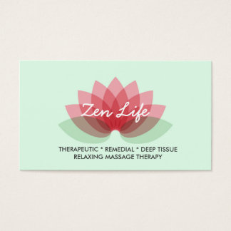 Therapeutic Massage Business Card