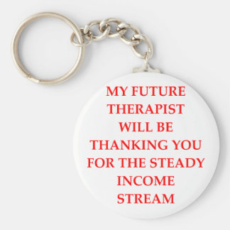 THERAPIST BASIC ROUND BUTTON KEY RING