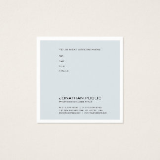Therapist Doctor Dentist Appointment Reminder Chic Square Business Card