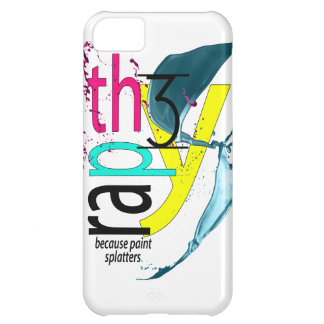 Therapy, because paint splatters iPhone Case iPhone 5C Cases