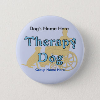 Therapy Dog 6 Cm Round Badge