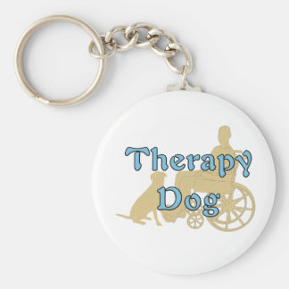 Therapy Dog Basic Round Button Key Ring