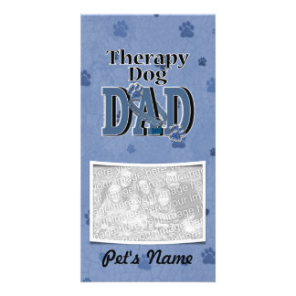 Therapy Dog DAD Photo Card