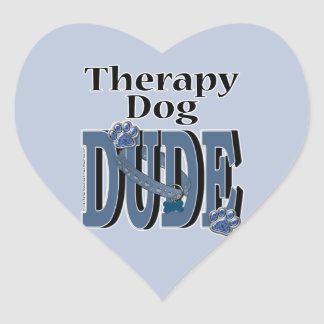 Therapy Dog DUDE Heart Sticker