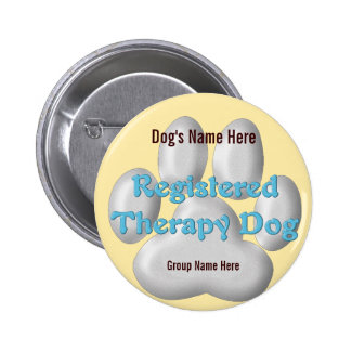 Therapy Dog ID 6 Cm Round Badge