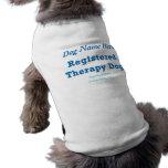 Therapy Dog ID Sleeveless Dog Shirt