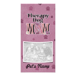 Therapy Dog MOM Personalized Photo Card
