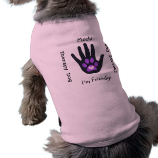 Therapy Dog (Purple Paw) Shirt