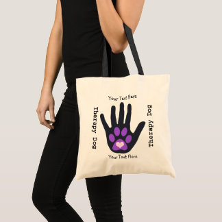 Therapy Dog Team Purple Tote Bag