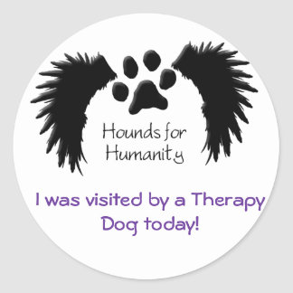 Therapy Dog Visit-Sticker Round Sticker