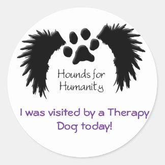 Therapy Dog Visit-Sticker Round Sticker