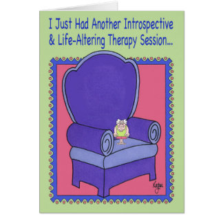 THERAPY SESSION Birthday Card