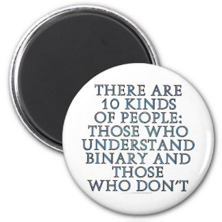 There are 10 kinds of people... 6 cm round magnet