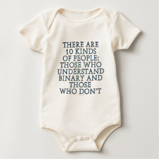 There are 10 kinds of people... baby bodysuit
