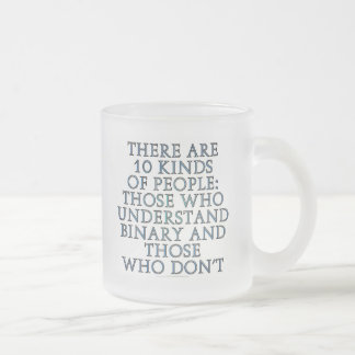 There are 10 kinds of people coffee mug