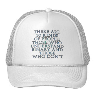 There are 10 kinds of people mesh hat