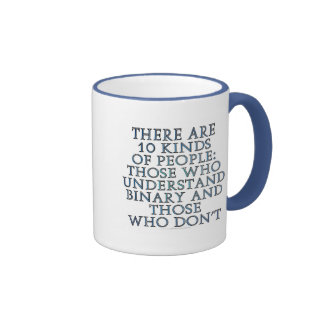 There are 10 kinds of people... ringer coffee mug